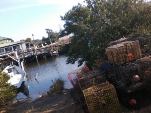 A stop at the bayou-side bait shop before venturing out