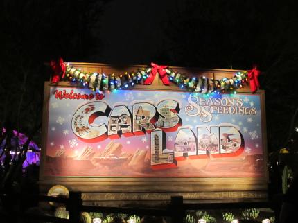 Season's Speedings from Cars Land