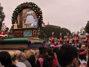 The opening of Disneyland's Christmas parade.