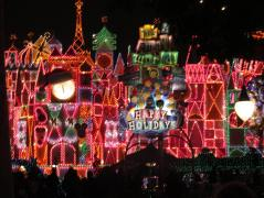 Stunning holiday decorations for it's a small world