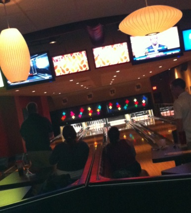 Nice pockets of bowling lanes, 4 lanes in a group