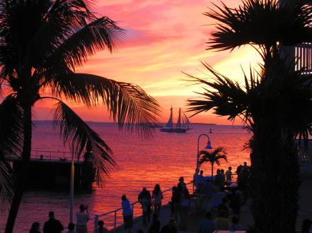sailboat key west sunset