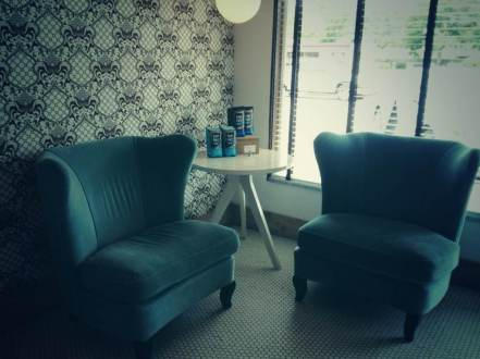 blue bird bakery chairs