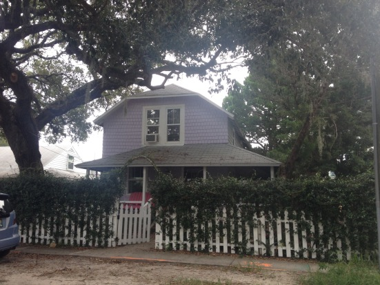 One of the many cute homes found along the roadways of New Smyrna Beach