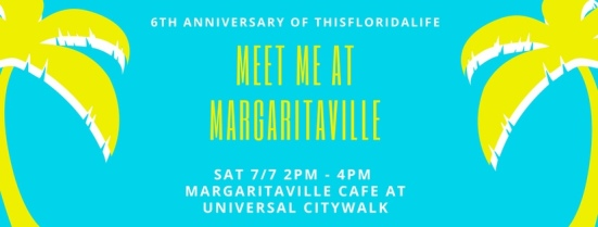 Invitation to Margaritaville Orlando on Saturday 7/7